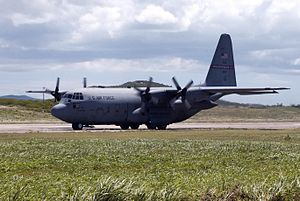 Tennessee Air National Guard - A 105th Airlift Squadron C-130H Hercules at Berry Field AGB, Nashville, in 2002.  The 105th is the oldest unit in the  Tennessee Air National Guard, having over 90 years of service to the state and nation.