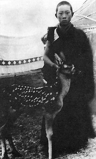 Choekyi Gyaltsen, 10th Panchen Lama - Young Panchen Lama in 1947
