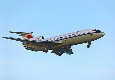 与涉事飞机相似的另一架三叉戟客机图片