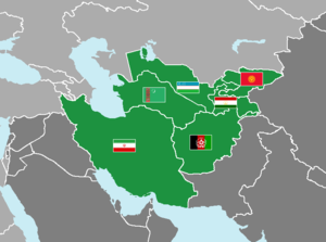 Central Asian Football Association - Image: CAFF member associations map