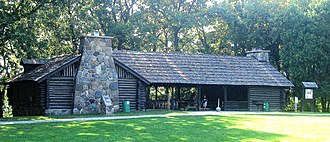National Register of Historic Places listings in Steuben County, Indiana - Image: CCC Shelter, Pokagon Park