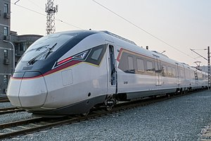 MRL East Coast Rail Link - CRRC Zhuzhou CJ6-type EMU proposed for inter-city rail line passenger services.