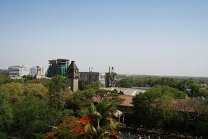 College of Engineering, Pune - The mechanical department and the chimney as seen from the tower