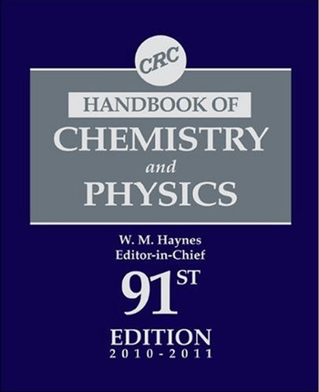 English: CRC Handbook of Chemistry and Physics...