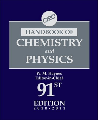 CRC Handbook of Chemistry and Physics 91st Edition
