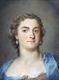 Ca' Rezzonico Sala dei pastelli - Ritratto di Faustina Bordoni Hasse - Rosalba Carriera - 47x35.jpg