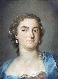 Hasses Frau, Faustina Bordoni, la nuova sirena. Gemälde von Rosalba Carriera (1675–1757) (Quelle: Wikimedia)