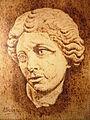 Cabeza de romana. Pirograbado de Antonio Navarro..JPG