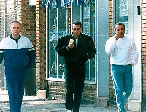 """Thomas Cacciopoli - Cacciopoli (left), with """"Junior"""" Gotti (middle) and John Cavallo in an FBI surveillance photo."""