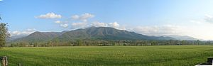 Cades Cove - Mountain rising above Cades Cove