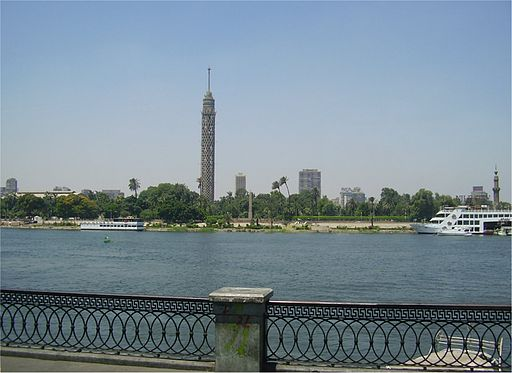 Cairo tower on the Nile