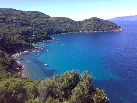 Maremma encapsulates the most visited seaside destinations in Tuscany. Above, the Tuscan littoral of Monte Argentario Cala Grande Argentario.jpg