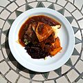 Calf's liver, bacon and mash at Staplefield, West Sussex, England 1.jpg
