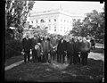 Calvin Coolidge and group outside White House, Washington, D.C. LCCN2016889031.jpg