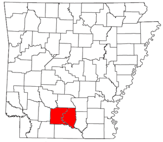 Camden, Arkansas micropolitan area - Location of the Camden Micropolitan Statistical Area in Arkansas