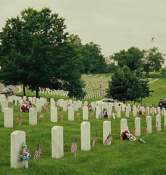 Camp Nelson National Cemetery - Camp Nelson National Cemetery on Memorial Day, 2003.
