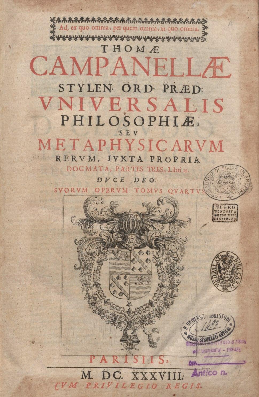 Campanella - Metaphysica, 1638 - 3891922 301891 1 00009