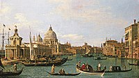 Canaletto - The Entrance to the Canal Grande at the Punta della Dogana and the Santa Maria della Salute Woburn.jpg