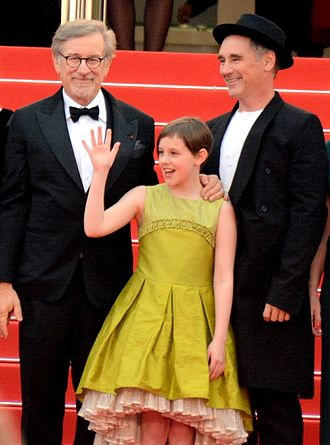 The BFG (2016 film) - Spielberg, Rylance and Barnhill promoting the film at the 2016 Cannes Film Festival.