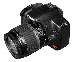 Canon EOS Rebel T1i digital SLR camera, sold a...