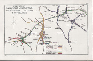 Gospel Oak to Barking line - A 1914 map of the Tottenham and Hampstead Junction Railway