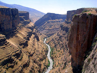 Iraqi Kurdistan - A canyon near the northern city of Rawandiz