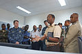 Cape Verde Coast Guard 1st Lt. Jose Tavares discusses maritime domain awareness capabilities with European, West African and U.S. Navy and civilian maritime professionals at the counter-narcotics and maritime 120314-N-TJ184-021.jpg