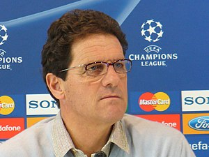 Fabio Capello as coach of Real Madrid during a...