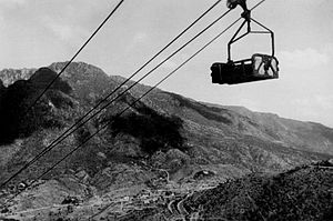 Cable car - The former Asmara-Massawa Cableway in Eritrea (late-1940s).