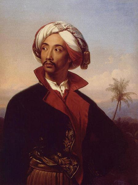 Berkas:Carl Johann Baehr - Porträt des Raden Saleh Syarif Bustaman.jpg