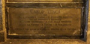 Carlo Tenca - Tenca's grave at the Monumental Cemetery of Milan, Italy