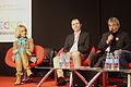 Carole Zalberg (SGDL), Jean-Yves Normant (Bookelis), Alain Absire (Sofia) - Salon du Livre de Paris 2015.jpg