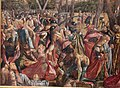 Carpaccio, storie di s.orsola 08, Martirio dei pellegrini e funerali di sant'Orsola, 1493, 02.JPG