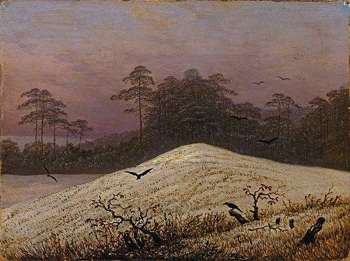 Caspar David Friedrich - Schneehügel mit Raben