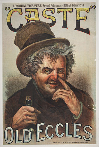 Caste (play) - 1887 poster for Caste