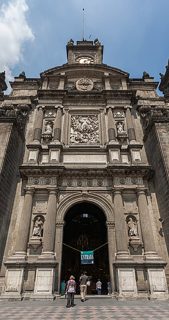 Mexico City Metropolitan Cathedral - Main entrance