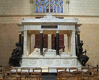 Christophe Léon Louis Juchault de Lamoricière - Cenotaph of Lamoricière in the Nantes cathedral.