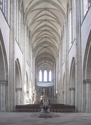 Cathedral of Magdeburg Inside perspective corr