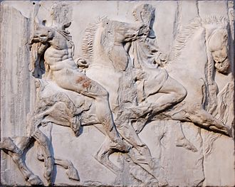 Cavalcade - Cavalcade. Block VII from the south frieze of the Parthenon, ca. 447–433 BC. (British Museum)