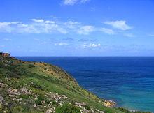 Vista dell'isola di Gozo