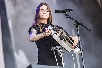 Anna Murphy (musician) - Anna Murphy performing with Cellar Darling at Rockharz festival 2018