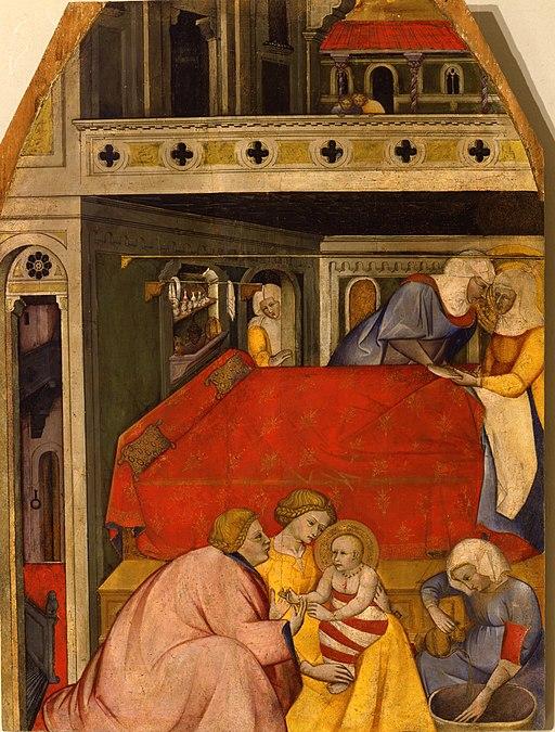 Cennino cennini, Natività di Maria, 1390-1410 ca., Museo San Pietro (Colle di Val d'Elsa)