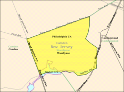 Census Bureau map of Woodlynne, New Jersey