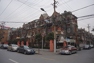 Shanghai Ghetto - Current view of once important business area in the ghetto, Huoshan Road