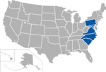 Central Intercollegiate Athletic Association, coverage map2.png