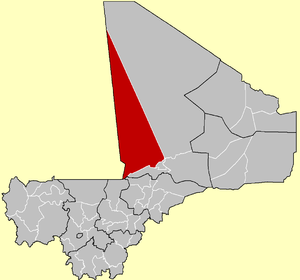 Location of the Cercle of Goundam in Mali