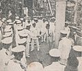 Ceremony on RI Dewarutji before launch, Sang Saka Melanglang Djagad, p35.jpg