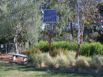 CERES Community Environment Park - Image: Ceres env pk reedbed and solar cell