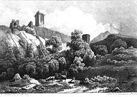 Château de Beaucens - Ruines - Desrosiers -1836 - L'art en province.JPG