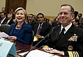 Chairman of the Joint Chiefs of Staff Navy Adm. Mike Mullen and U.S. Secretary of State Hillary Rodham Clinton testify in front of the U.S. House Committee on Foreign Affairs 091202-N-TT977-476.jpg